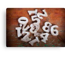 Numbers I Canvas Print