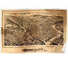 Panoramic Maps Binghamton NY Poster