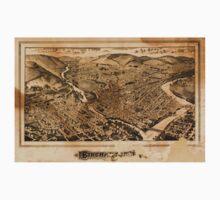 Panoramic Maps Binghamton NY Kids Tee