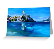 Malcesine with Castello Scaligero Greeting Card