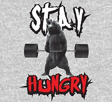 Stay Hungry - Deadlifting Bear T-Shirt