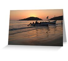 Returning from Dolphin Trip Palolem Greeting Card
