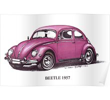 Volkswagen Beetle 1957 Poster