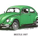 1957 Volkswagen Beetle  by mrclassic