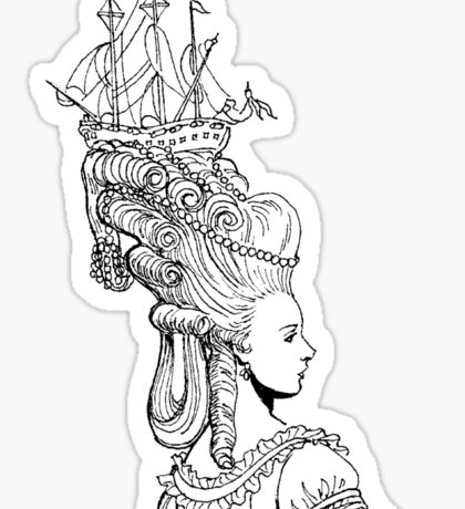 Girl With Ship Sticker