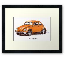 1957 Volkswagon Beetle Framed Print