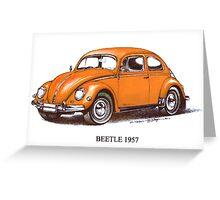 1957 Volkswagon Beetle Greeting Card