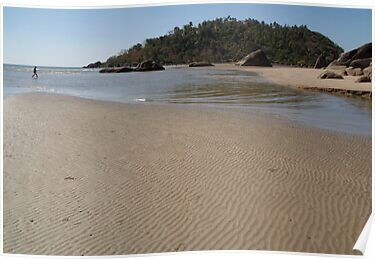 Walking Towards Monkey Island Palolem by SerenaB