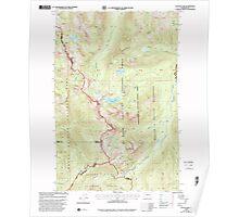 USGS Topo Map Washington State WA Cougar Lake 240694 2000 24000 Poster