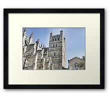 Part View Of Exeter Cathedral- Exeter, Devon Framed Print