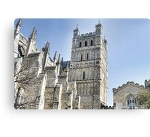 Part View Of Exeter Cathedral- Exeter, Devon Canvas Print