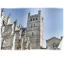 Part View Of Exeter Cathedral- Exeter, Devon Poster