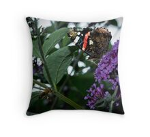 The Butterfly and the Bee Throw Pillow