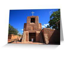 Santa Fe - San Miguel Chapel Greeting Card