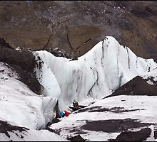 Climbing on Ice by Mike Freedman