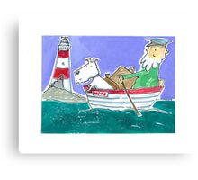 The Lighthouse Keeper Illustration  Canvas Print