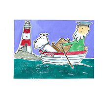 The Lighthouse Keeper Illustration  Photographic Print