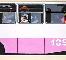 Bus109...going down town Havana by Sandro Vivolo