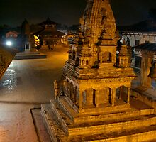 Durbar Square at Night Bhaktapur by SerenaB