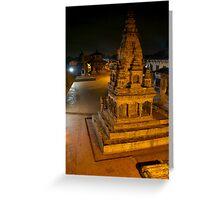 Durbar Square at Night Bhaktapur Greeting Card