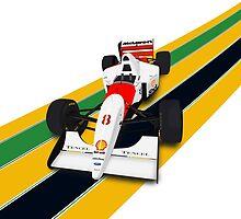 Ayrton Senna - McLaren MP4/8 by JageOwen