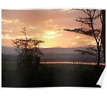 Early Rise over Lake Nakuru Poster