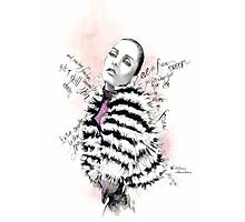 Eve in fur Photographic Print