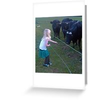 A Treat for the Cows Greeting Card