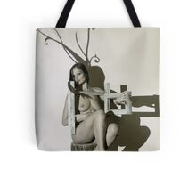 3D video mapping on model in the studio - horns pattern Tote Bag