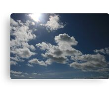Clouds on a summers day Canvas Print