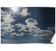 Clouds on a summers day Poster