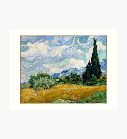 Wheat Field with Cypresses by Vincent van Gogh Art Print