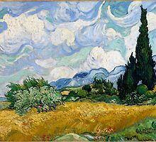 Wheat Field with Cypresses by Vincent van Gogh by Robert Partridge