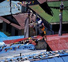 Nepal Namche Bazaar by GuyHinksPhoto