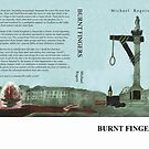 'Burnt Fingers' Book Cover by Matthew Rogers