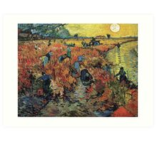 The Red Vineyard by Vincent van Gogh Art Print
