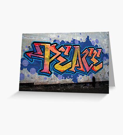 PEACE Graffiti Greeting Card