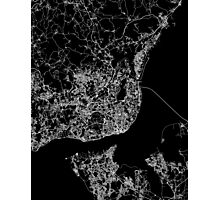 Lisbon map Portugal Photographic Print