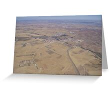 Aerial view of Spanish landscape Greeting Card