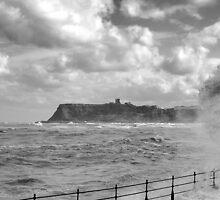 Big wave, Scarborough by Asher Haynes