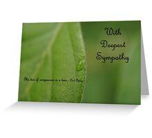 Sympathy Card 1 Greeting Card