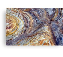 sandstone layer art Canvas Print