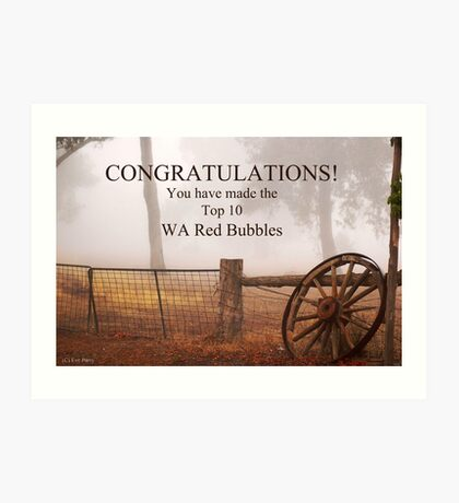 WA Red Bubble Banner Entry Art Print