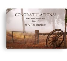 WA Red Bubble Banner Entry Canvas Print