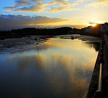 Sunset River at Wivenhoe by Phill Sacre