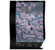USGS Topo Map Washington State WA Frenchman Hills Lake 20110503 TM Inverted Poster