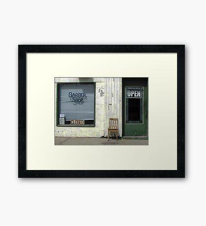 Open & Closed Framed Print