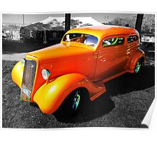 Orange Coupe Poster
