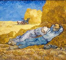 Noon – Rest from Work (after Millet) by Vincent van Gogh by Robert Partridge