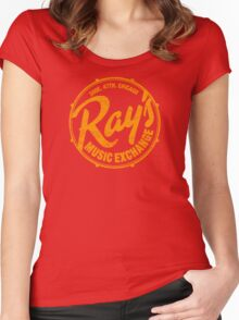 Ray's Music Exchange (worn look) Women's Fitted Scoop T-Shirt